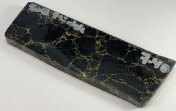 Black with Gold Matrix Tru-Stone Block 0.36